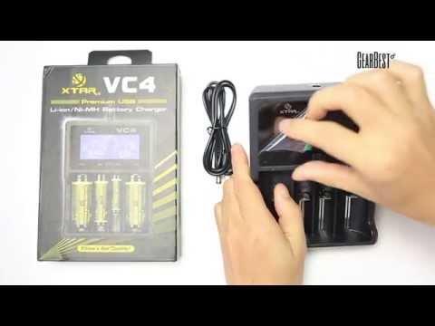 XTAR VC4 Universal Li - ion Battery Charger - Gearbest.com