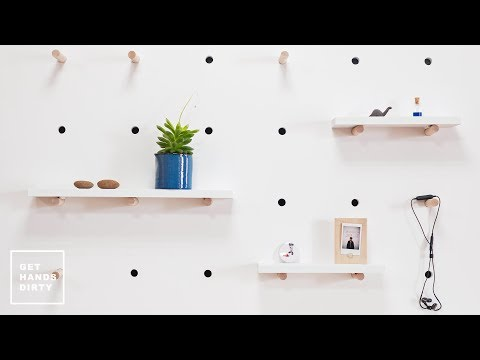 How to Make Pegboard Shelves // Easy and Quick Project