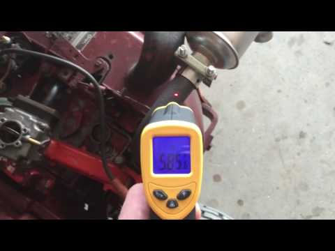 Infrared Thermometer - ETEKCITY Lasergrip 1080 - Onan B43 Exhaust Temperature