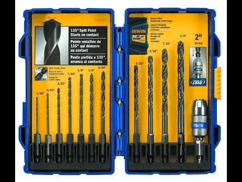 IRWIN Tools Black Oxide Hex Shank Drill Bit Unboxing & Review