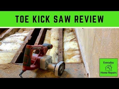 Toe Kick Saw - Subfloor Flush Cut to Wall Demo