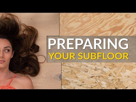 Subfloor Preparation for New Flooring