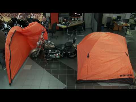 Motomag.tv 2010-13 - Gadget12 - Tente Harley-Davidson