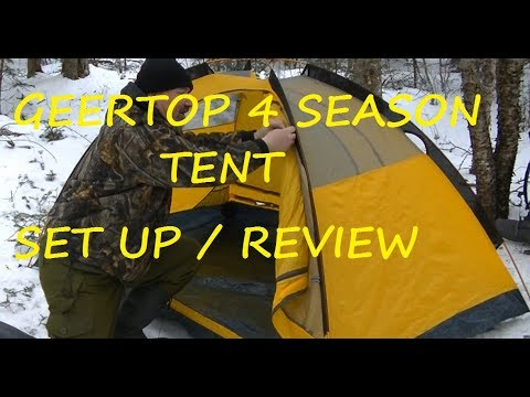 Geertop 4 Season Tent, Set Up and Review