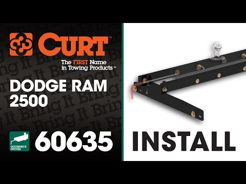 Gooseneck Hitch Install: CURT 60635 with 60607 on Dodge Ram 2500