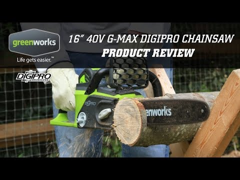 """Part 2 My first cordless chainsaw, Greenworks G-MAX 40V, 16"""" Review"""