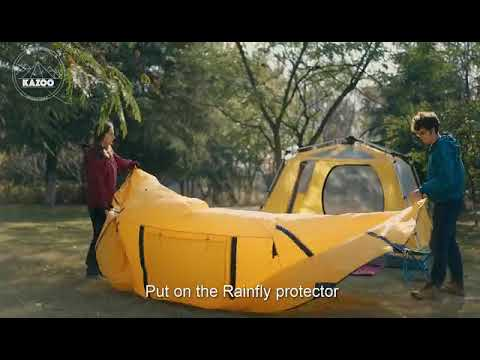KAZOO SATURN: 4 Person Family Camping Tent Large Waterproof Pop Up Tents