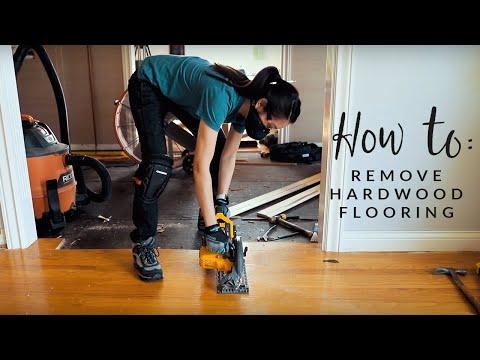 How To Remove Hardwood Flooring (the EASY way!)
