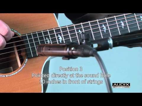 Audix Microphones - How to mic an acoustic guitar with an ADX51 small diaphragm condenser microphone