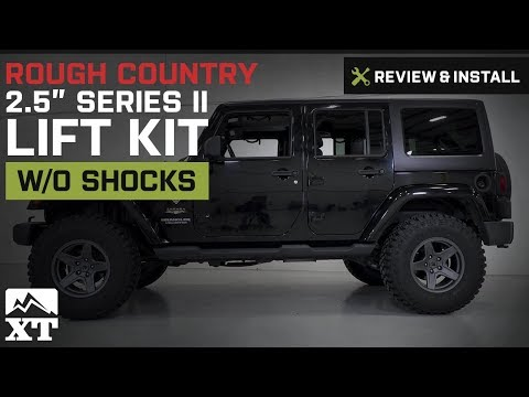 """Jeep Wrangler Rough Country 2.5"""" Series II Lift Kit w/o Shocks (2007-2017 JK) Review & Install"""
