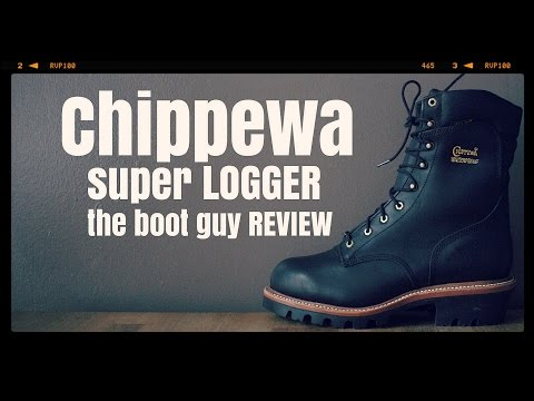 """CHIPPEWA BOOTS Style: 25410 MEN'S 9"""" BLACK OILED LOGGER STEEL TOE [ The Boot Guy Reviews ]"""