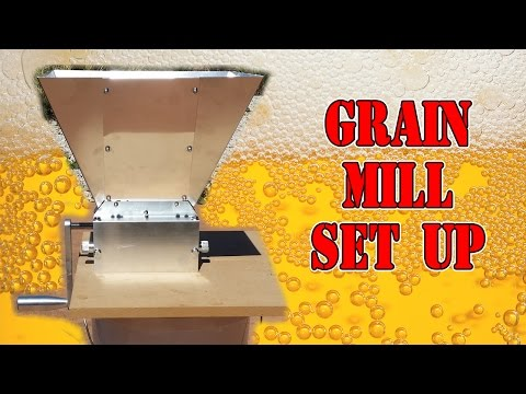 Grain Mill Set Up - How to - 3 Roller Mill