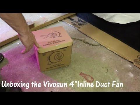 """Unboxing the #Vivosun 4"""" 195CFM Inline Ventilation Duct Fan"""