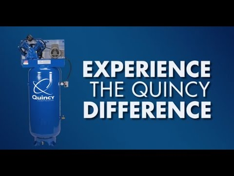 Quincy QT-54 Splash Lubricated Reciprocating Air Compressor - 5 HP, 230 Volt, 1 Phase, 60-Gallon Ver