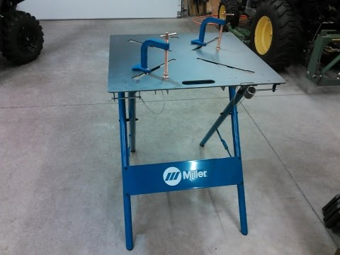 """Miller 30FX ArcStation 30""""x 30"""" Welding Table My Review By KVUSMC'"""