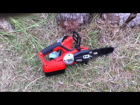 A Woman's Perspective on Homesteading - Black and Decker Battery Operated Chainsaw