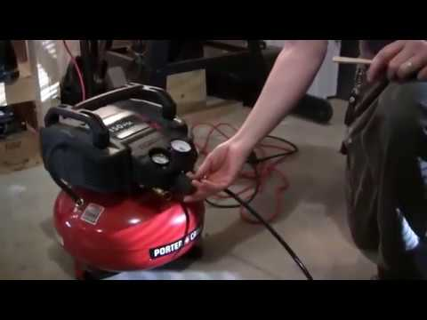 Demo: Using the Porter Cable 150 psi air compressor