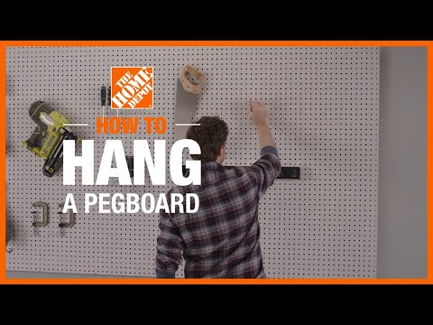 How to Hang a Pegboard   The Home Depot