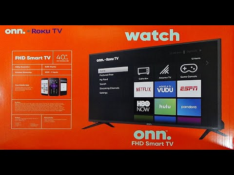 """onn. TV Unboxing 40"""" Class FHD (1080P) Roku Smart LED 3 HDMI inputs Full HD 500,000+ movies and TV"""