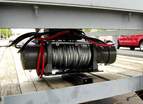 enclosed trailer winch, car hauler winch, trailer mounted winch, car trailer winch, winch on trailer, car trailer with winch, car trailer winches