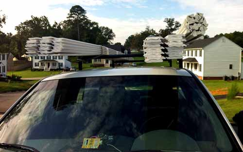 how to transport crown molding